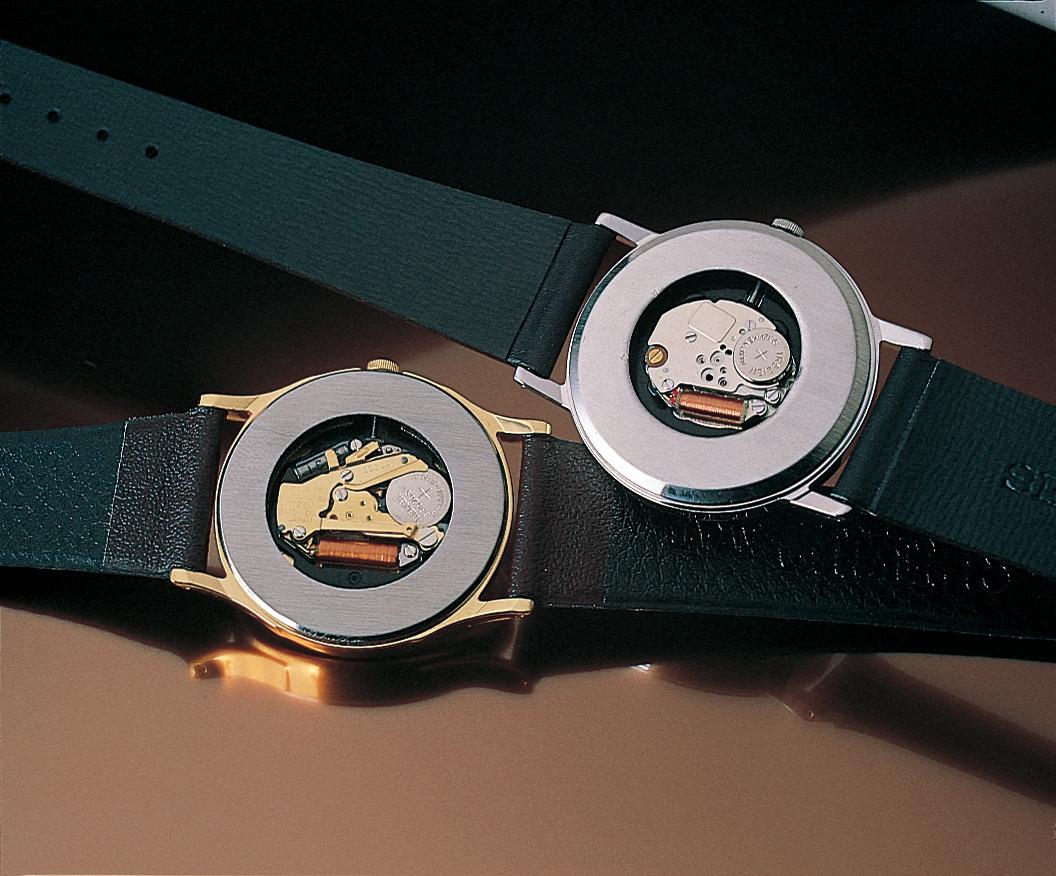 巻線を使用した時計